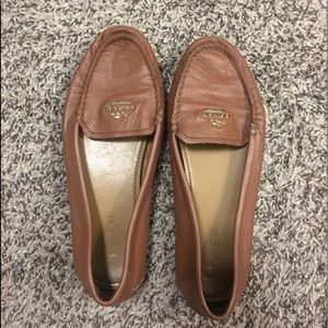 Brown coach loafers